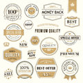 Set of vector badges and stickers Royalty Free Stock Image