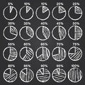 Set of vector chalk hand drawn infographics elements sketch on black board