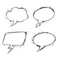 Set of vector chat ink grunge bubbles this is file eps format Royalty Free Stock Photo