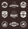Set of Vector Cheese Labels, Icons and Design Elements Royalty Free Stock Photo