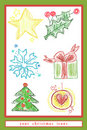 Set of vector christmas icons Stock Photos