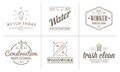 Set of Vector Construction Building Icons Home and Repair can be used as Logo