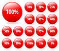 Set of vector discount buttons. Stock Photography