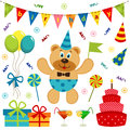 Set of vector elements birthday illustration Stock Photos