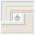 Set of vector embroidery stitch pattern brushes Royalty Free Stock Photo