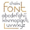 Set of vector English alphabet letters isolated. Lower case crea
