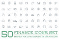Set of Vector Finance Money Icons and Payments and Income Rich can be used as Logo Royalty Free Stock Photo