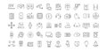 Set Vector Flat Line Icons Internet of Things Royalty Free Stock Photo