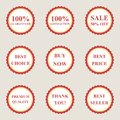 Set of vector flat sale icons this is file eps format Royalty Free Stock Photos