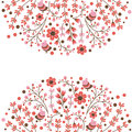 Set of vector floral frames. Cute collection of wreaths made of hand drawn leaves and flowers. Vintage set for