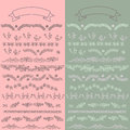 set vector floral ornate elements Royalty Free Stock Photo