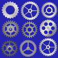 Set vector gears illustration of the various Royalty Free Stock Photography