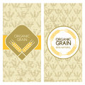 Set of vector grunge backgrounds for banner, label, package template. Royalty Free Stock Photo