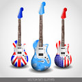Set of Vector Guitars Royalty Free Stock Photo
