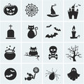 Set of vector halloween icons. Royalty Free Stock Photo