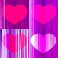 Set of vector hearts pes Royalty Free Stock Photo