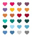 Set of vector hearts, vector illustion flat design style.