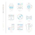 Set of vector hipster icons and concepts in mono thin line style