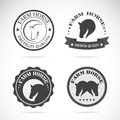 Set of vector horses labels Royalty Free Stock Photo