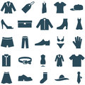 Set vector icons clothes and accessories collection of can be used in web design mobile applitsations for decoration shops Stock Photos