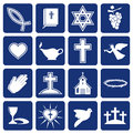 Set of vector icons of religious christianity Royalty Free Stock Photo