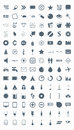 Set vector icons, signs, symbols and pictograms. Stock Images