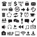 A set of vector icons stock image Stock Photos