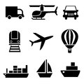 Set of vector icons trucks stock photo Royalty Free Stock Photos