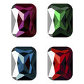 Set of vector illustration of gems Royalty Free Stock Photo