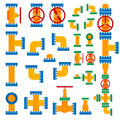 Set of vector illustration pipeline elements. Stock Photo