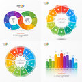 Set of vector infographic 11 options templates