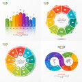 Set of vector infographic 9 options templates