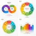 Set of vector infographic 8 options templates