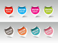 Set of vector labels Stock Images