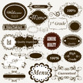 Set vector labels calligraphic design elements Royalty Free Stock Photos