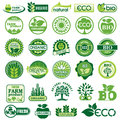 Set vector labels emblems ecology environment Royalty Free Stock Photo