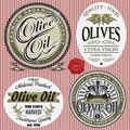 Set of vector labels for olive oil Royalty Free Stock Image
