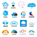 Set of vector logos cloud Royalty Free Stock Photo