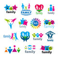 Set of vector logos family Royalty Free Stock Photo