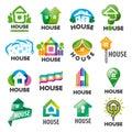 Set of vector logos homes