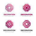 Set of vector logos for interior, furniture shops, decor items and home decoration.