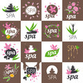 Set of vector logos for spa salon