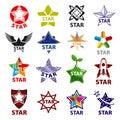 Set of vector logos star Royalty Free Stock Photo