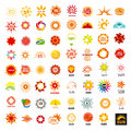 Set of vector logos sun Royalty Free Stock Photo