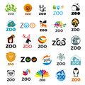 Set of vector logos zoo Royalty Free Stock Photo