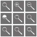 Set of vector magnifying glasses and zoom icons for your business Stock Photo