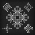 Set of vector ornaments decorative ornament elements Stock Image