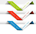 Set of Vector Paper origami ribbon Royalty Free Stock Photo