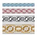 Set vector pattern brushes. Brush set for frames, borders, backgrounds. colorful pattern brush