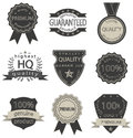 Set of vector quality badges